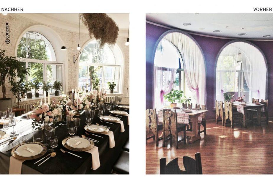 Vorher Nachher Interior Redesign Restaurant