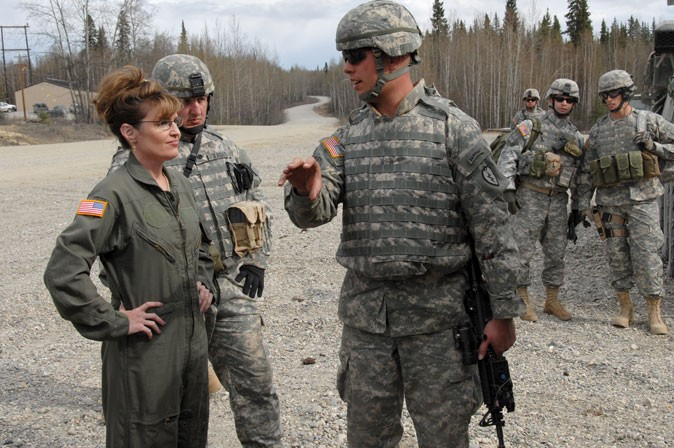 Sarah Palin at Ft Wainwright, Alaska