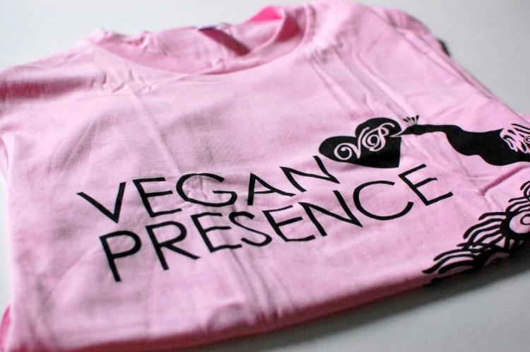 A ~Vegan Presence~ pink t-shirt!
