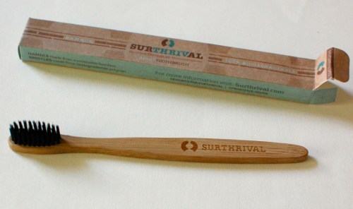 Bamboo toothbrush.
