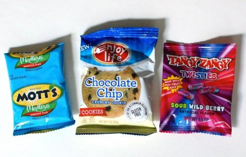 Fruit snacks, cookies, & candy