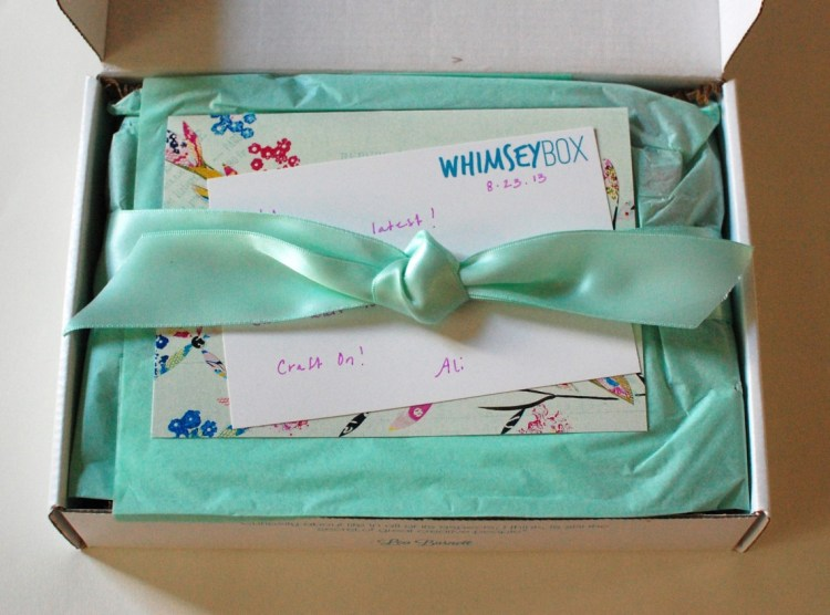Whimseybox August 2013 Review, Discount & Giveaway