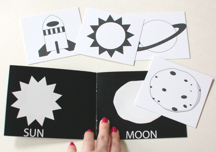M is for Monster space book