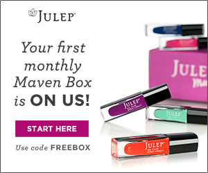 click to get your first julep box for free