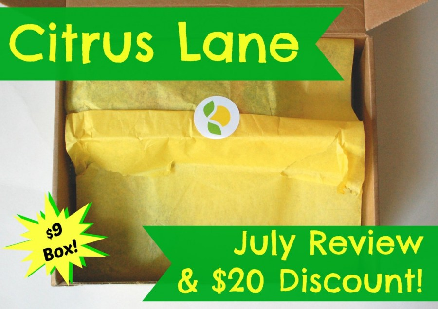 Citrus Lane July review & $20 discount code