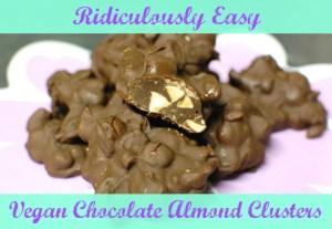 Super Easy Vegan Chocolate Clusters Featuring Blue Diamond Almonds