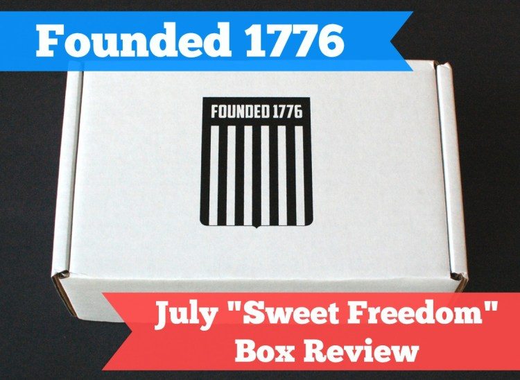 "Founded 1776 ""Sweet Freedom"" Box July 2014 Review"