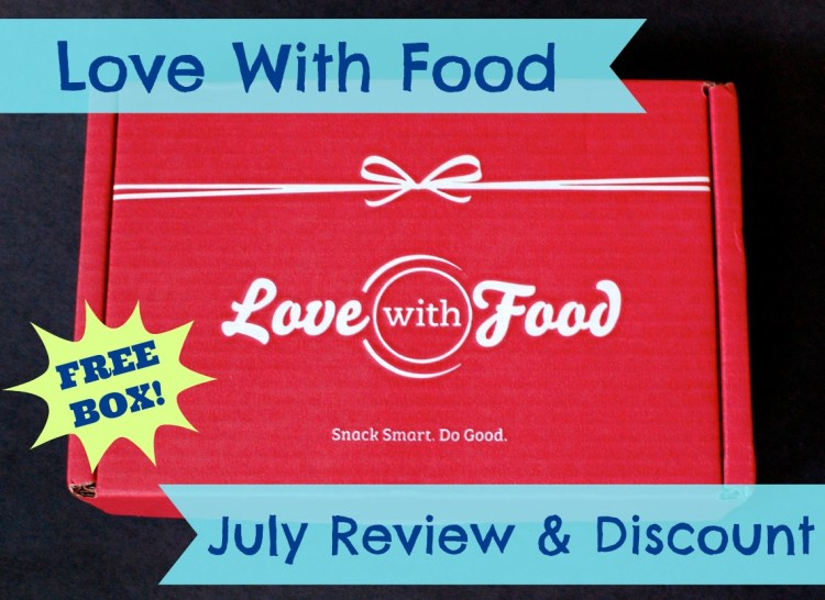 Love With Food Box July 2014 Review, Gluten-Free Announcement & Code for FREE Box!