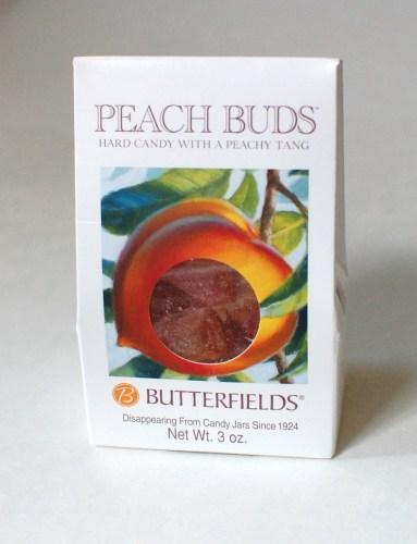 Butterfields Peach Buds hard candy