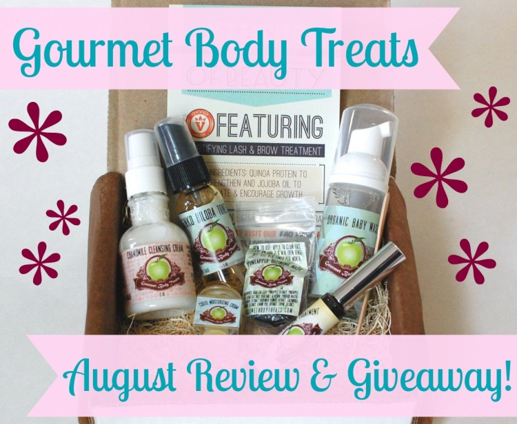 Gourmet Body Treats August 2014 Review & Giveaway! Ends 8/31/14