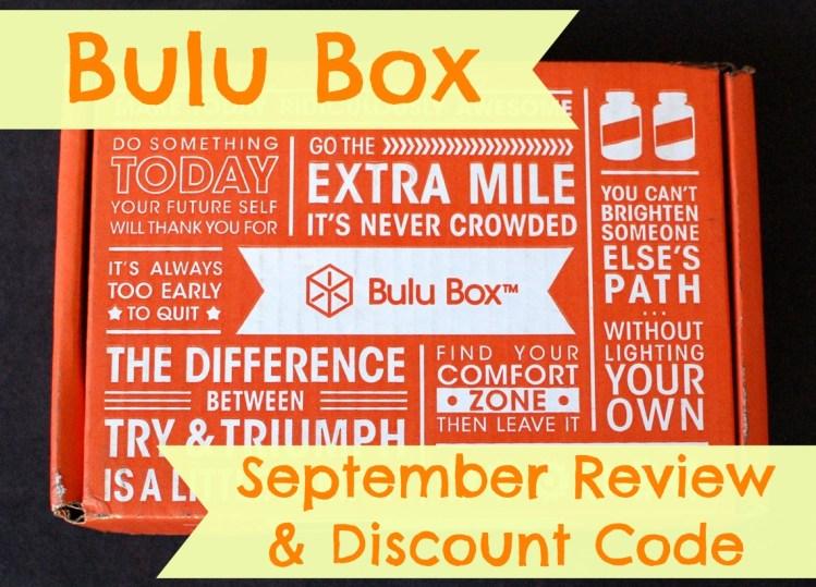 Bulu Box September 2014 Review & 50% Off Code