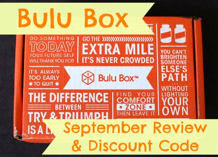 Bulu Box September 2014 Review & 50% Off Code