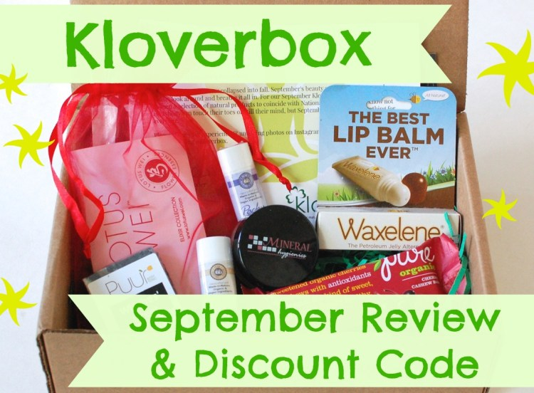 Kloverbox September 2014 Review & Discount Code!