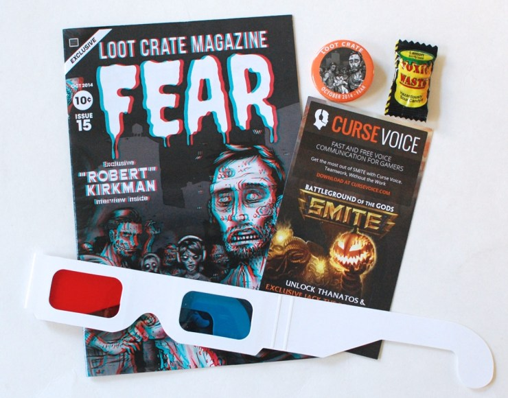 Loot Crate Fear Magazine and 3D glasses