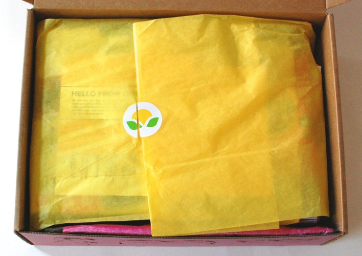 Citrus Lane box yellow tissue paper