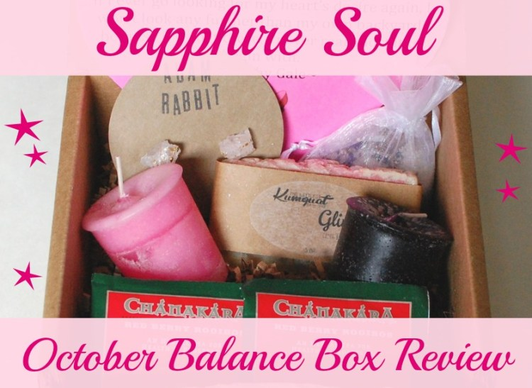 Sapphire Soul Balance Box October 2014 Review & Exclusive Offer!