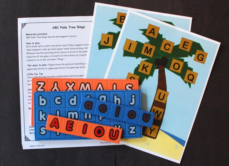 ABC Palm Tree Bingo