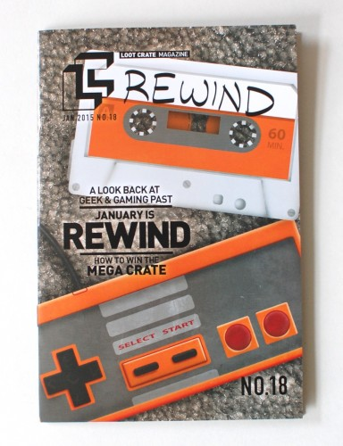 Loot Crate January 2015 Rewind magazine