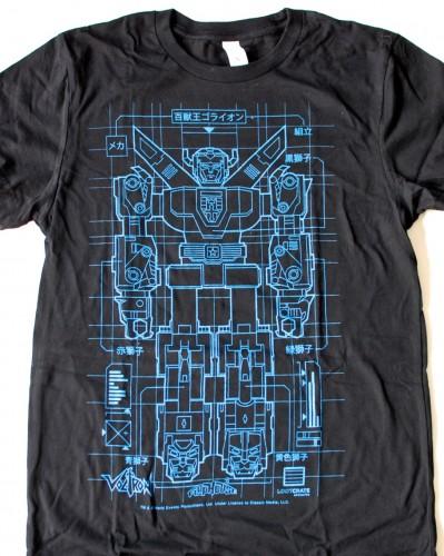 Voltron schematic shirt