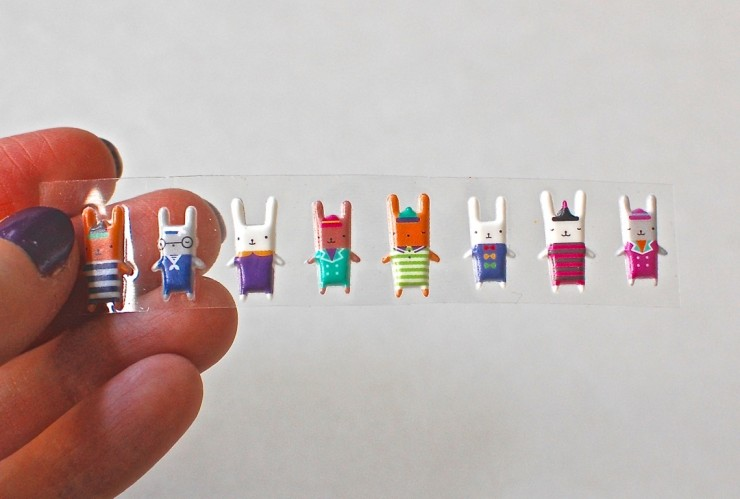 Pipsticks bunny stickers