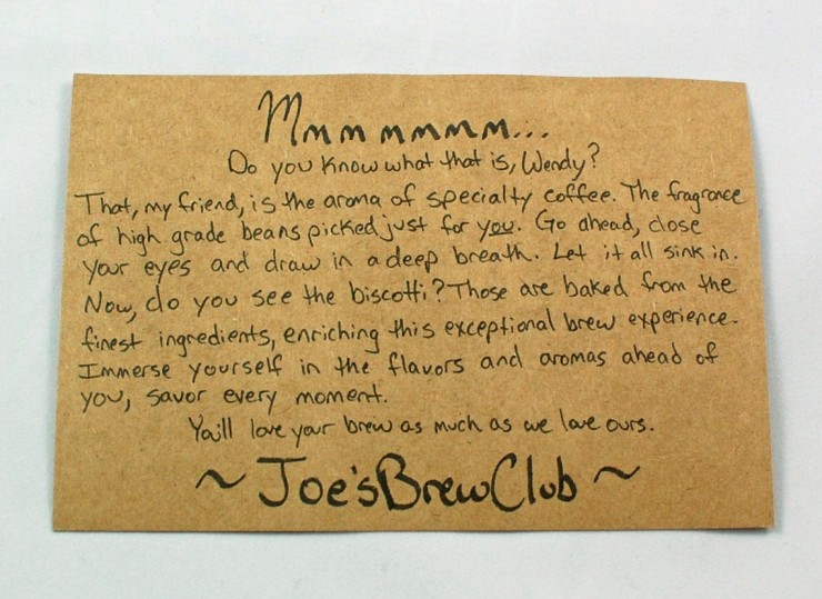 Joe's Brew Club review