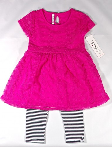 striped pretty in pink outfit