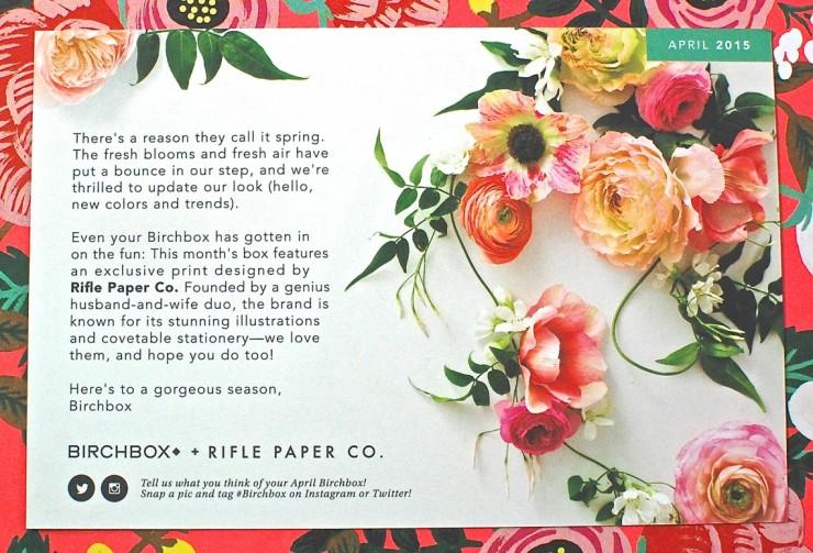 Birchbox April Rifle Paper Co