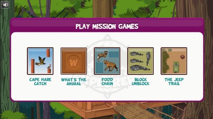 Junior Explorers games