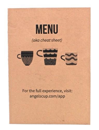 Angels' Cup menu