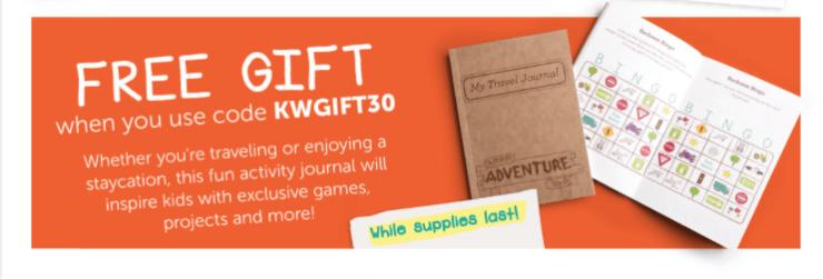 Kiwi Crate free gift