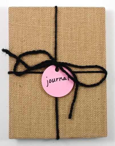 burlap journal