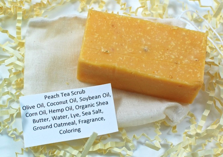 Peach tea scrub soap