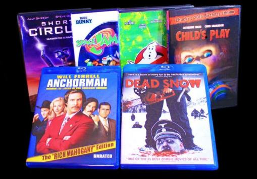 DVD and BluRay selection