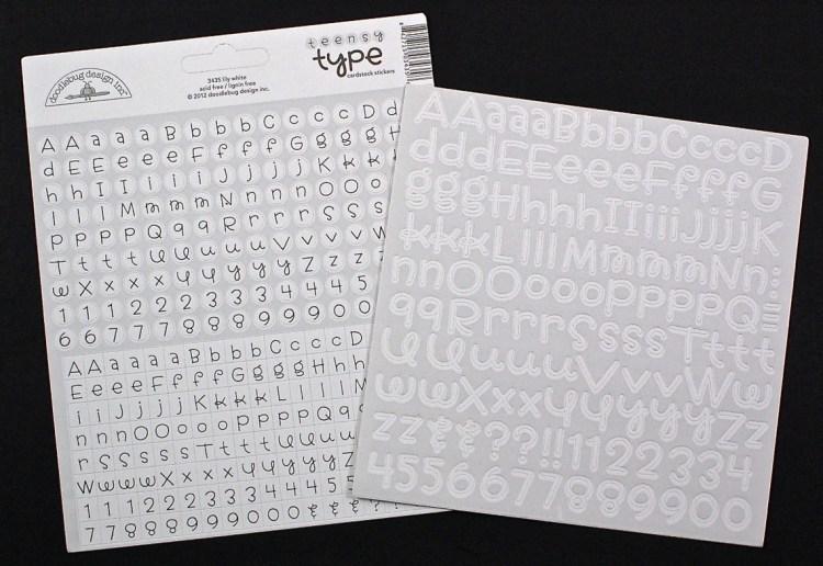 scrapbooking letters