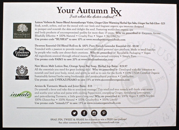 Autumn The Remedy Rush