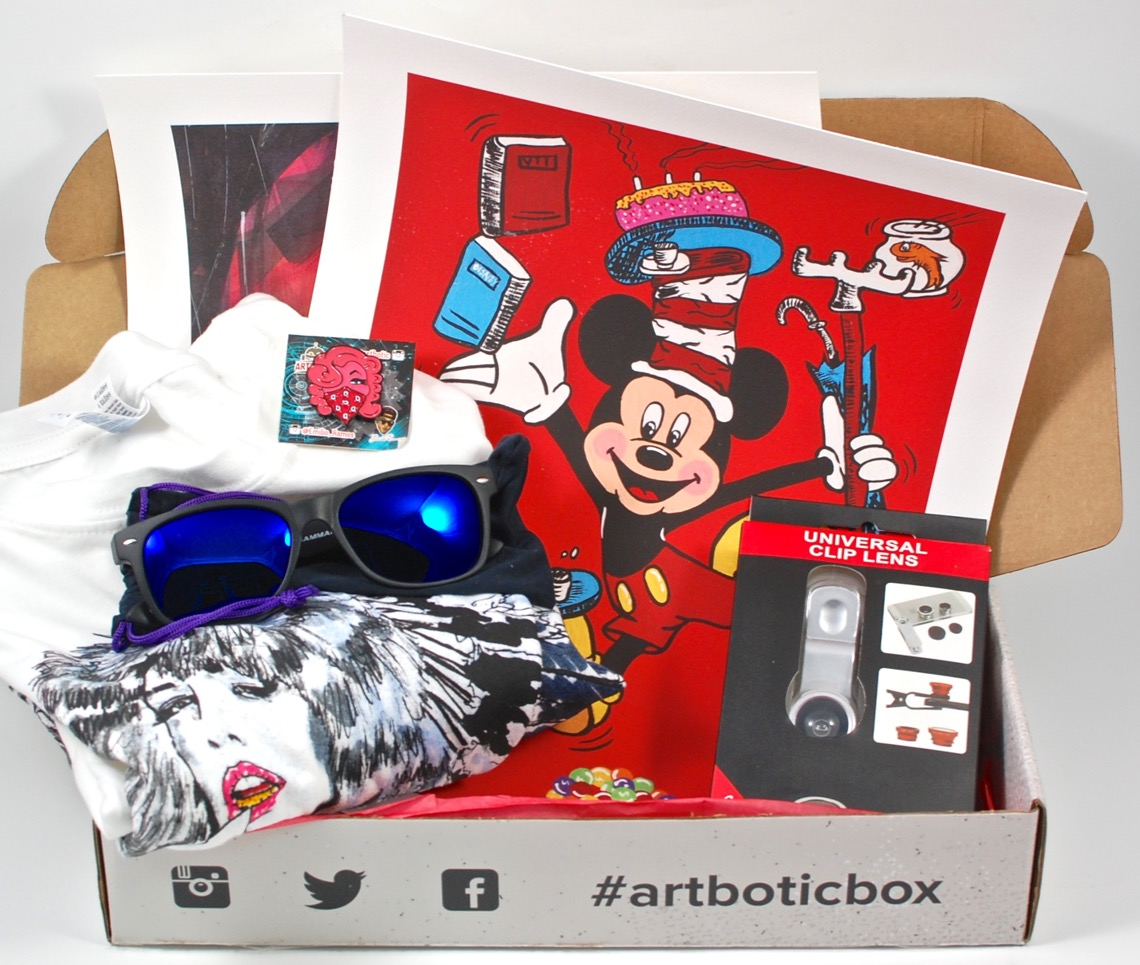 art subscription box artbotic august 2015 limited edition subscription box 31288