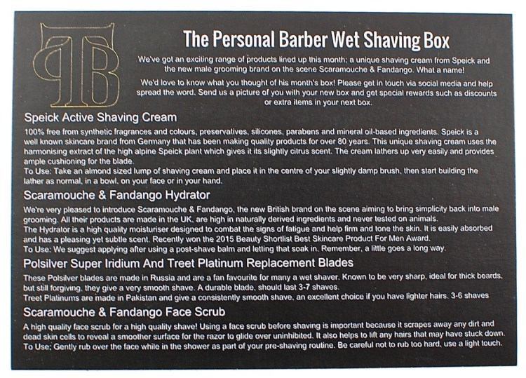 The Personal Barber box