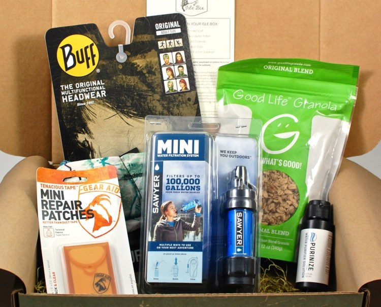 Isle Box August 2015 Outdoor Box Review & Coupon Code