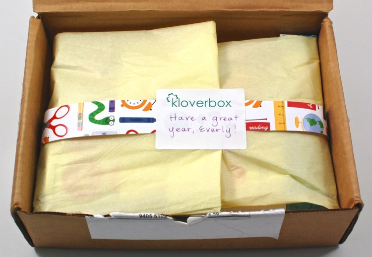 Kloverbox back to school box