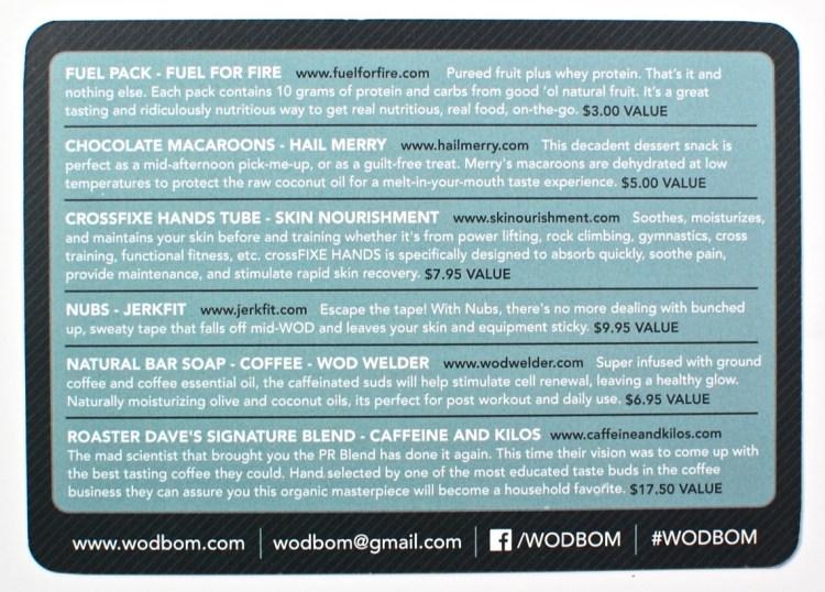 WODBOM box