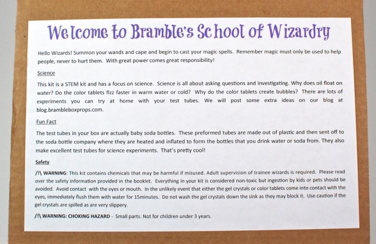 Bramble Box wizards