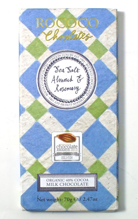 Rococo Chocolates Milk Chocolate Sea Salt Almond & Rosemary