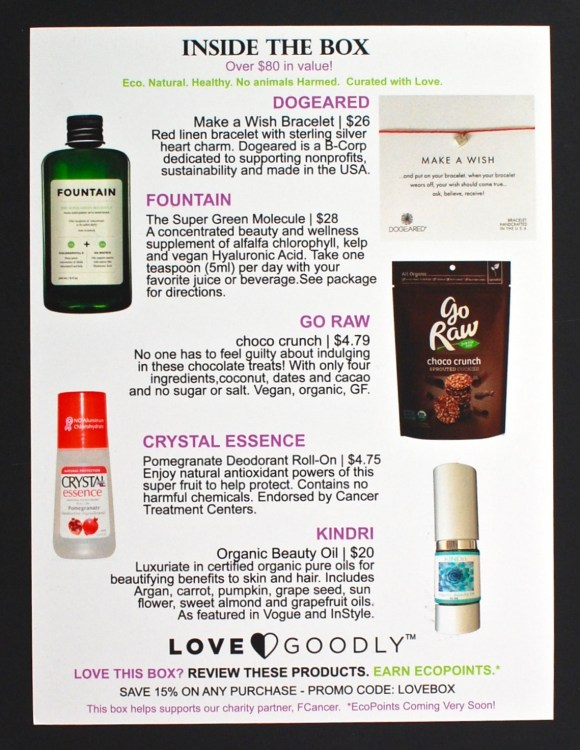 October/November 2015 Love Goodly box
