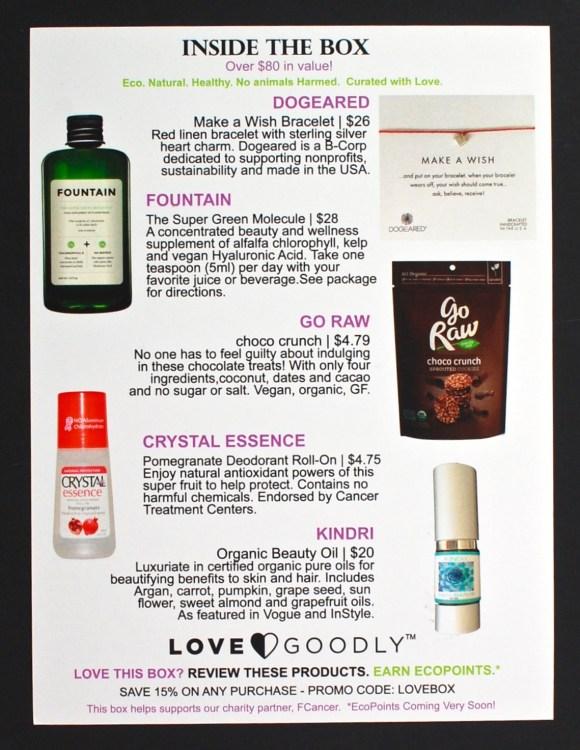 October/November 2015 Love Goodly box
