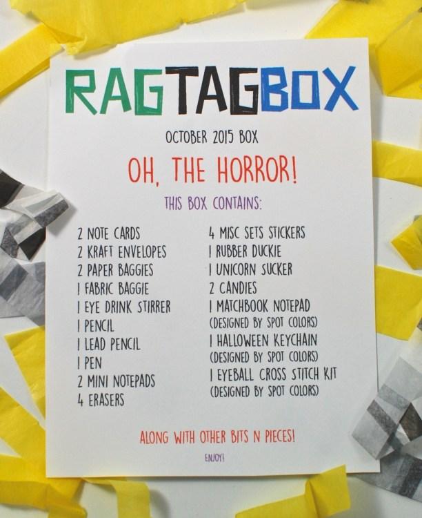 October Rag Tag Box
