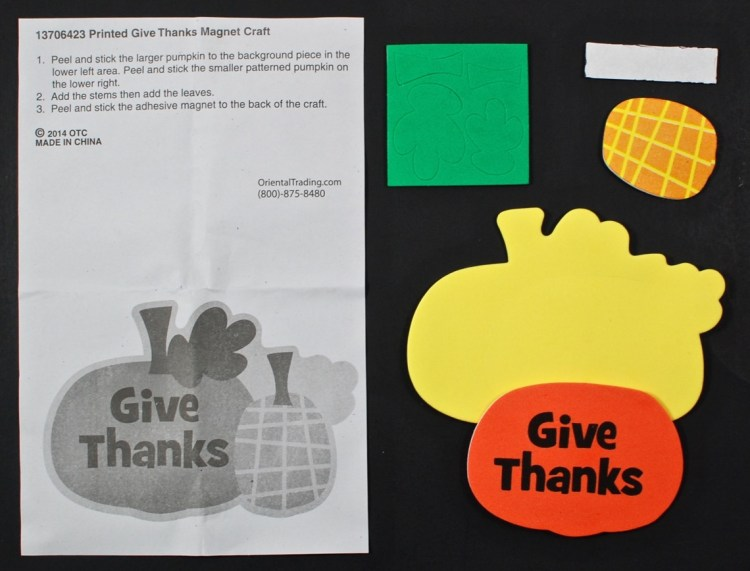 thanksgiving magnet kit