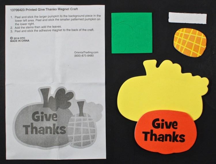 thanksgiving magnet kit
