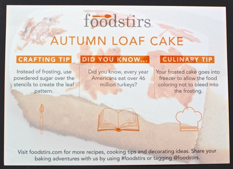 Foodstirs autumn loaf cake
