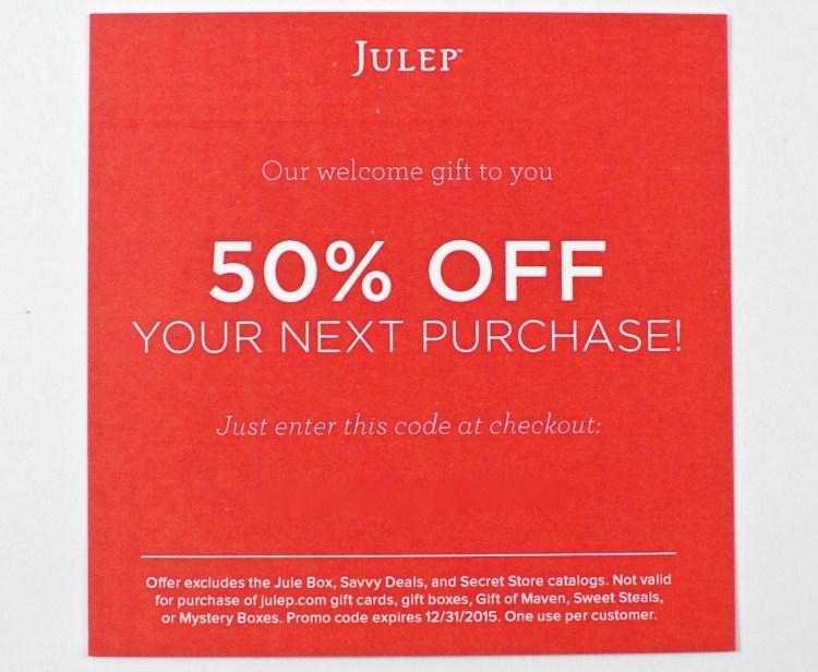 Julep 50% off