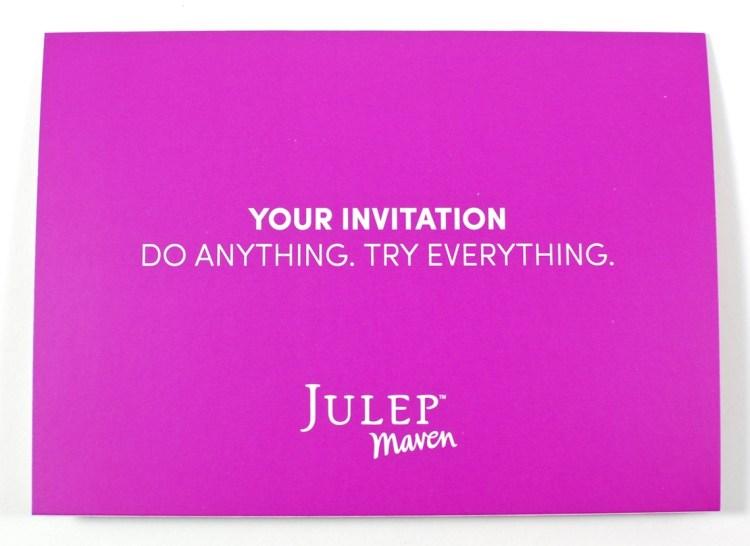 Julep free welcome box
